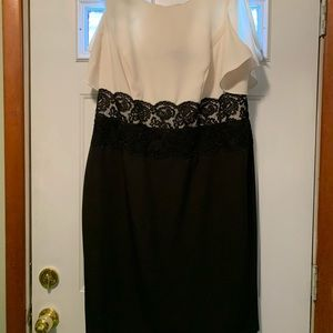 18W Adrianna Papell. White and black worn once